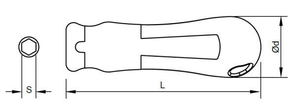 SLOKY Standard-Handgriff gerade