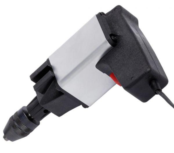 110-Watt-Kraftbohrmaschine mit hohem Drehmoment für ausdauerndes Arbeiten auch in niedrigen Drehzahlbereichen in Metall, Kunststoff und Holz.