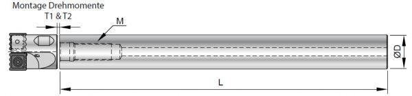 Helix Drill Verlängerung VHM Vollhartmetall