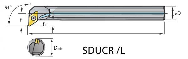VHM Vollhartmetall-Bohrstange SDUC mit i.K.