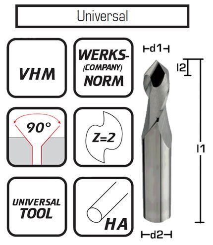 VHM Multifunktionswerkzeug Vollhartmetall 90°