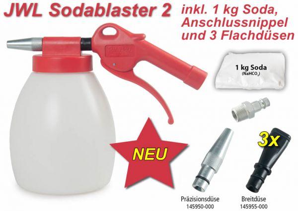 JWL Sodablaster 2 inkl. 3 Flachdüsen, Nippel und 1 kg Soda