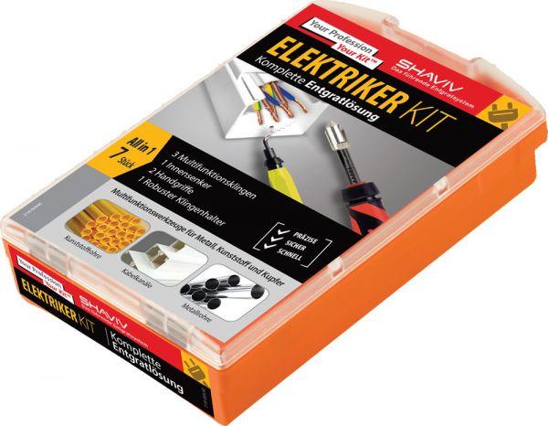 Shaviv Elektriker-Kit Handentgratwerkzeuge 7 teilig